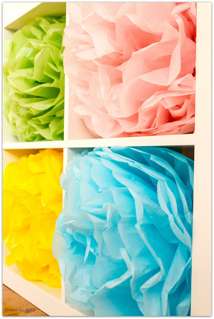 Colorful paper flowers from BistrotChic