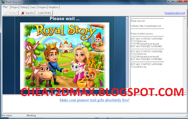 Royal Story Cheats - Bot hack