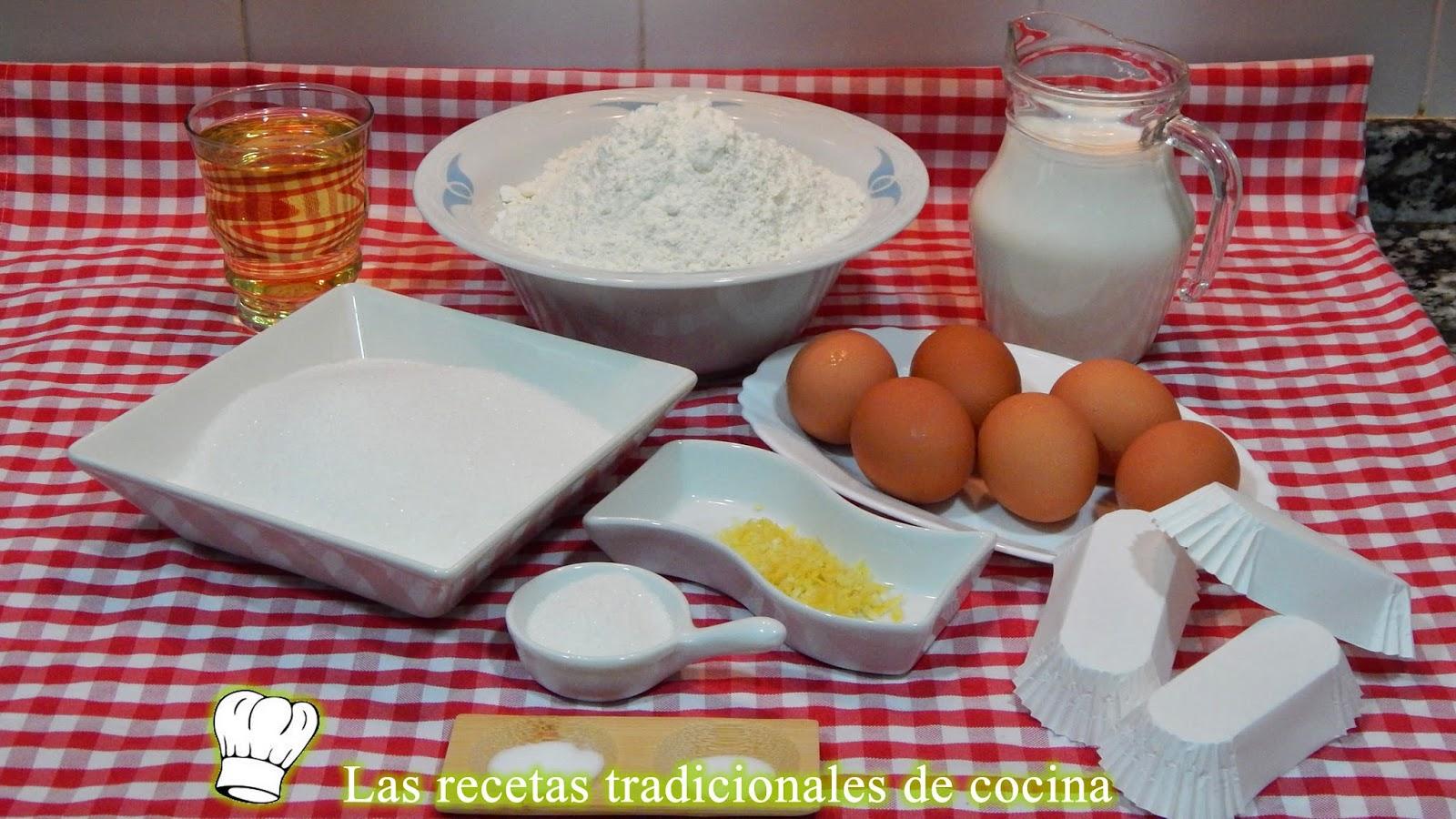 Receta de magdalenas Valencianas