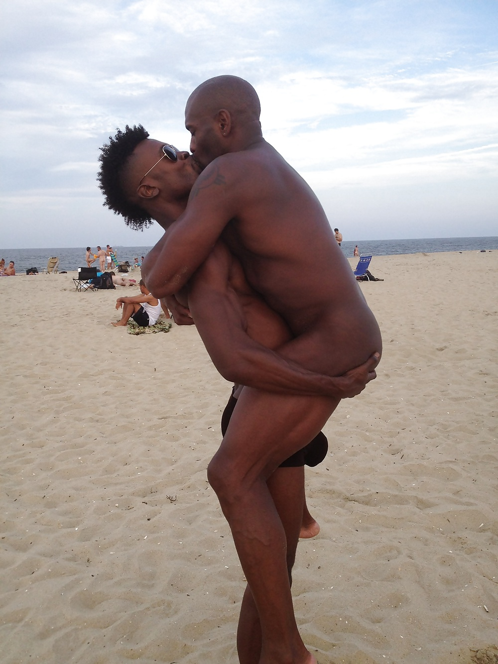 black people nude in beach