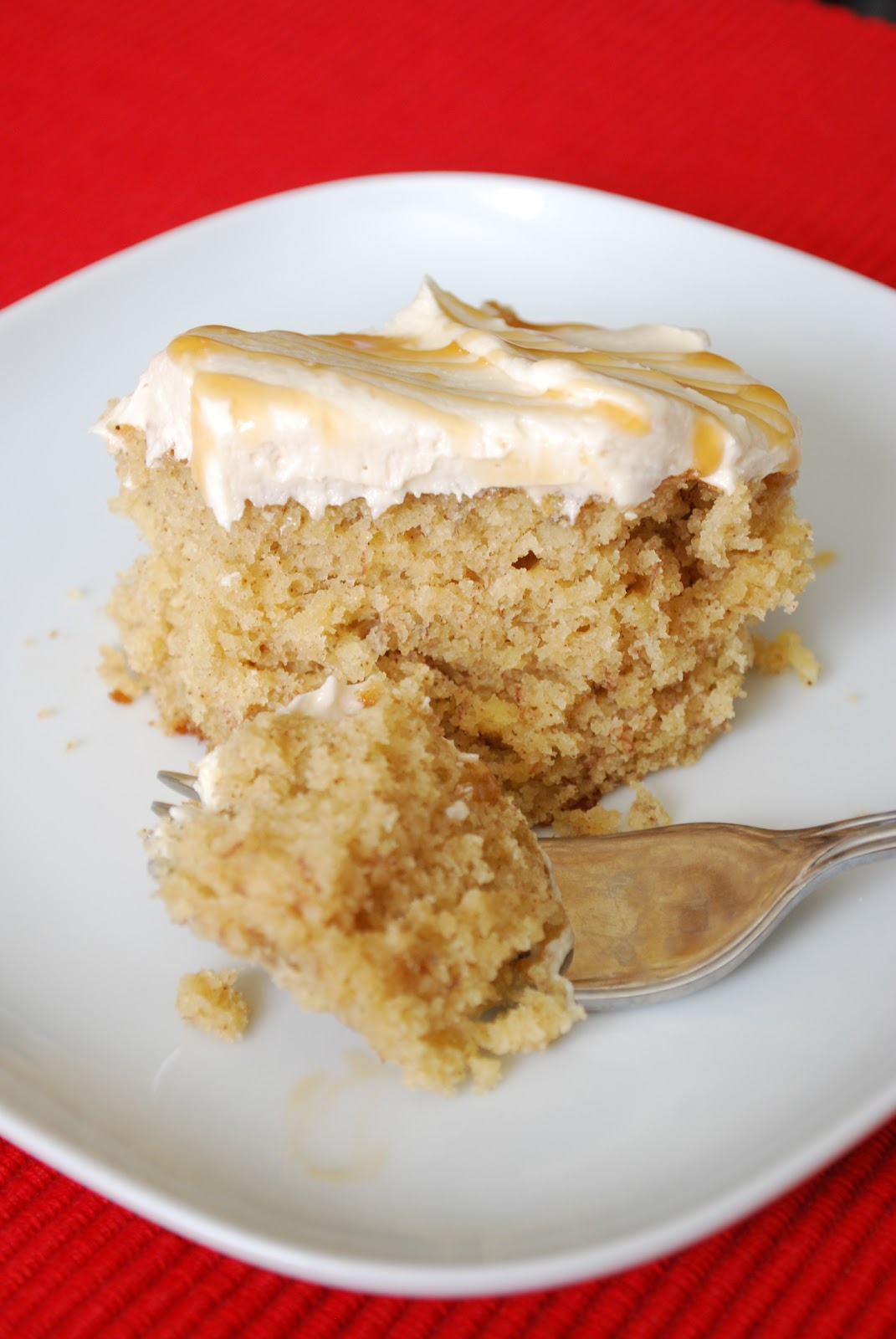 Bake.Frost.Repeat: Banana Cake with Salted Caramel Buttercream