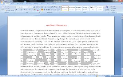 BloG MohD FauzriN, mohdfauzrin, Mohd Fauzrin, mohdfauzrin.blogspot.com, Tutorial, Microsoft Words, Failed, Fail, Magic, Magik,