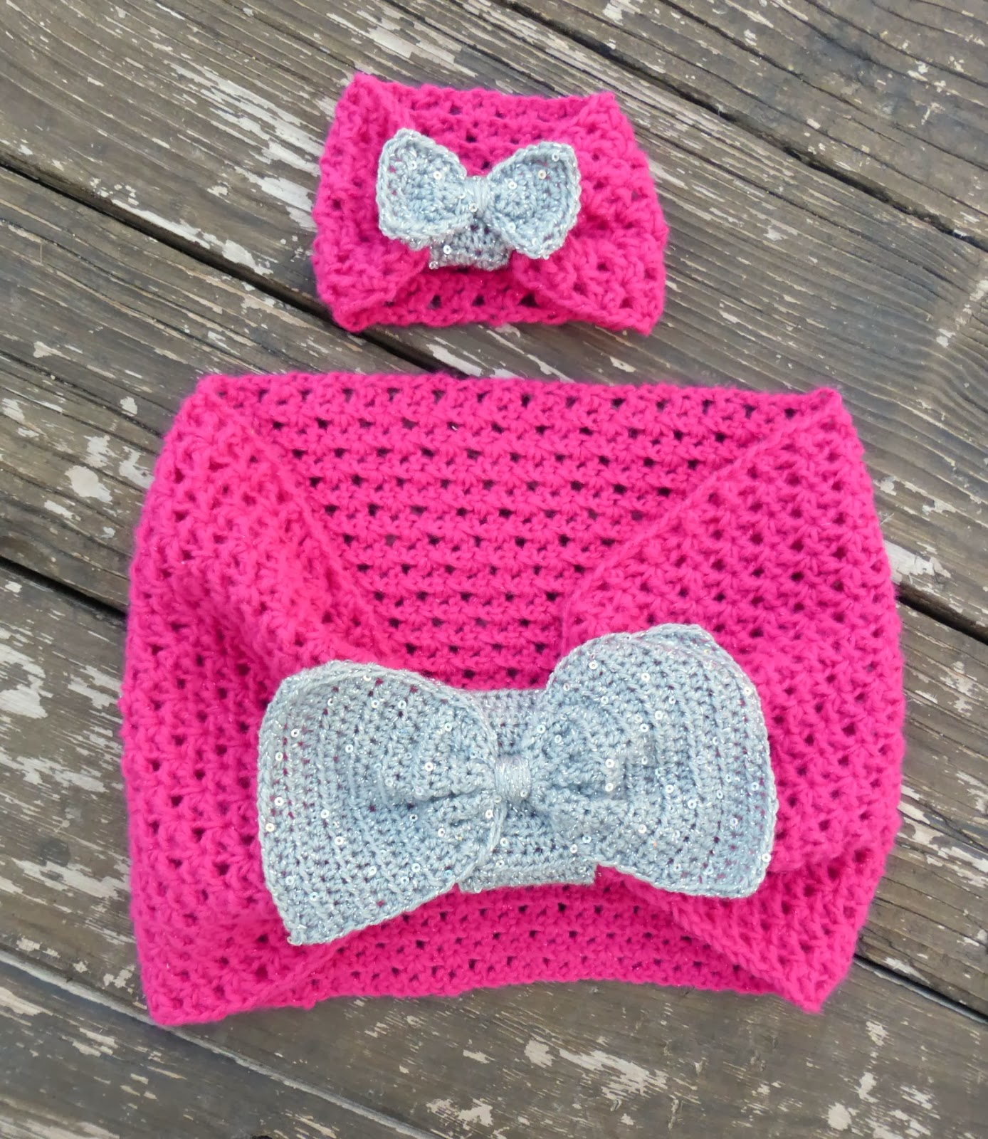 american girl (or 18 inch doll) free crochet bow scarf pattern and tutorial
