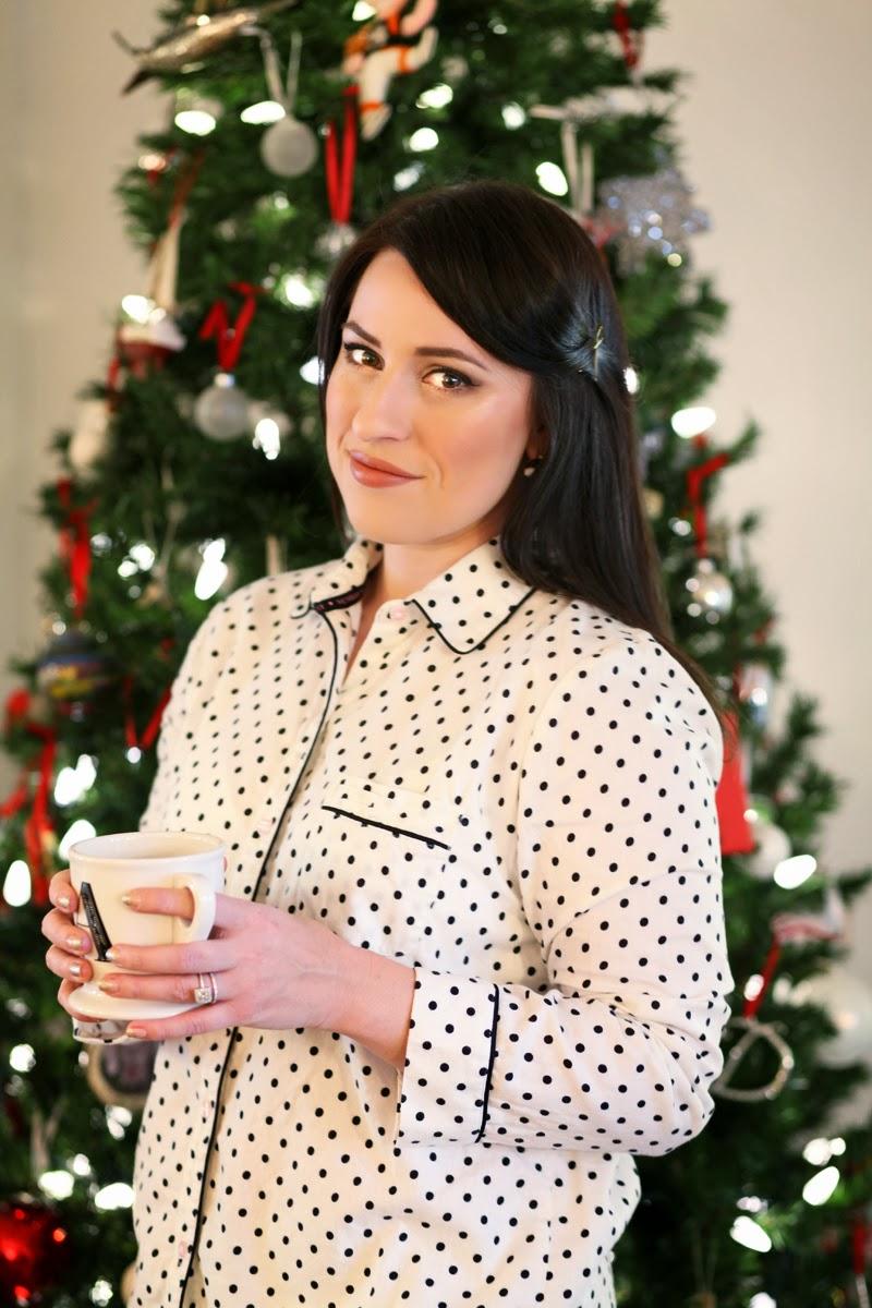anthropologie-monogram-mug-victorias-secret-polka-dot-pajamas-christmas-eve-style