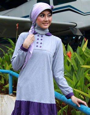 Zenitha Koleksi Busana Muslim Ukuran Big Size abu misti ungu