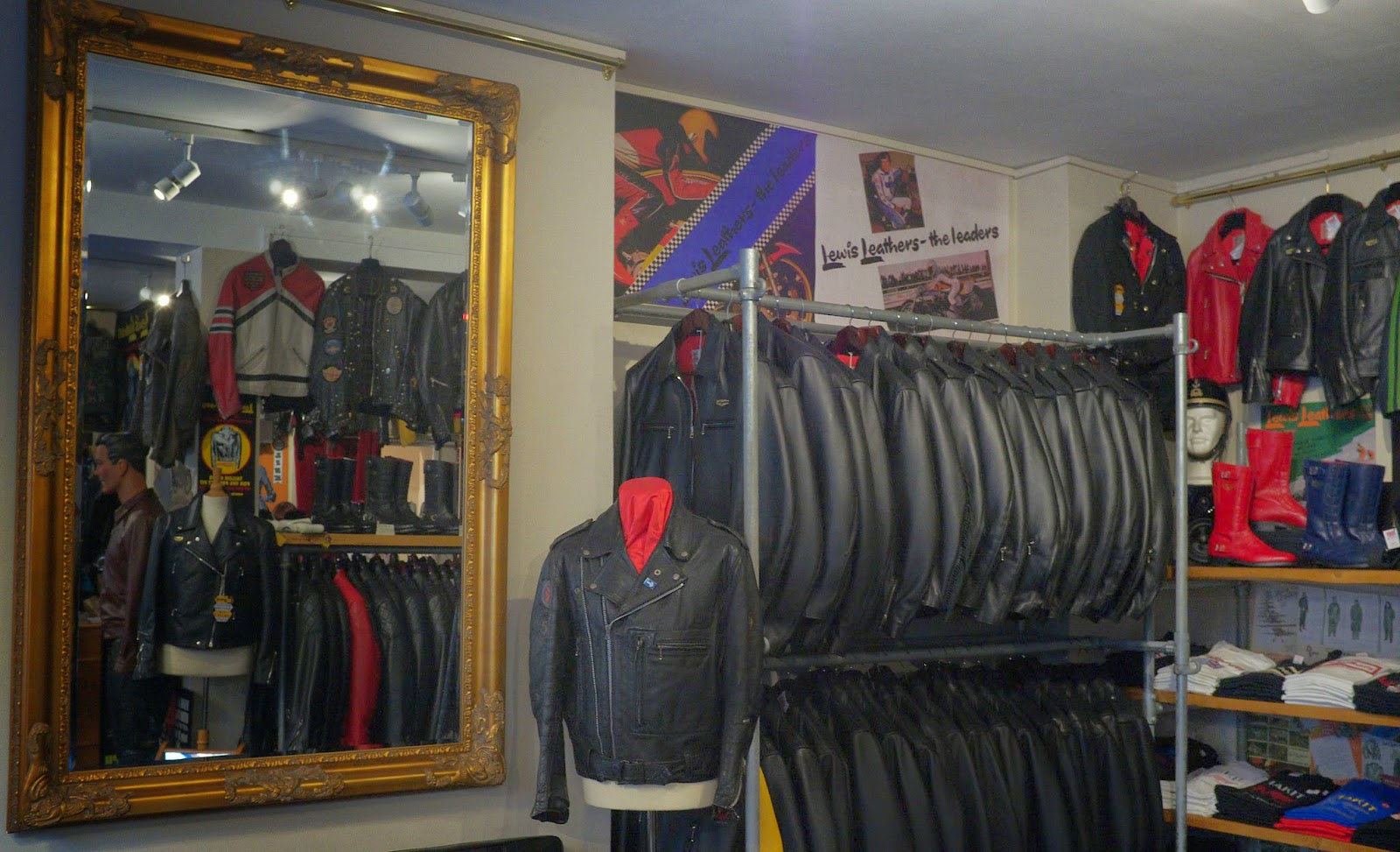 Lewis Leathers shop interior