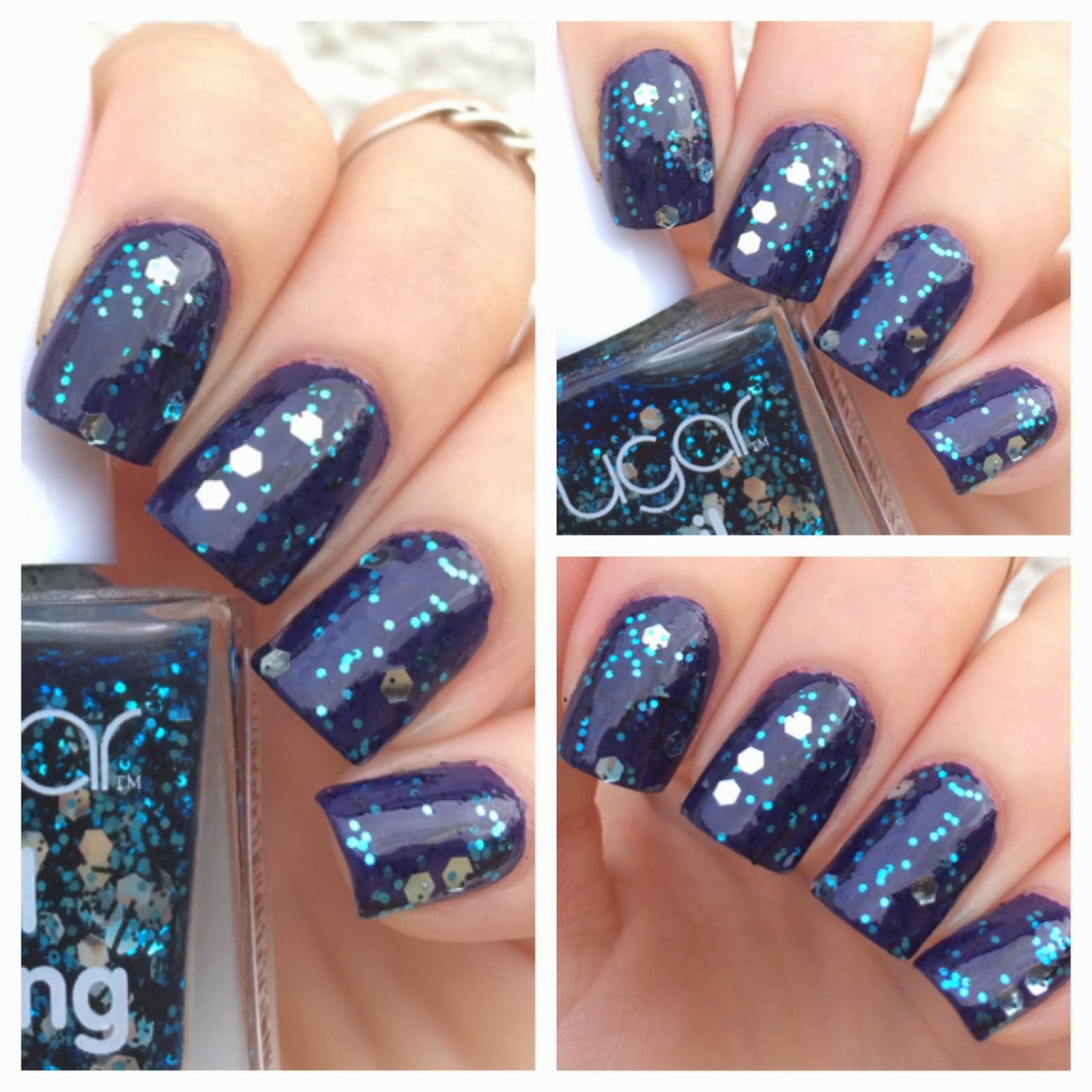 Shimmer And Sparkle Nail Polish: Cat Eyes & Skinny Jeans: Sugar Nail Frosting Glitter Nail