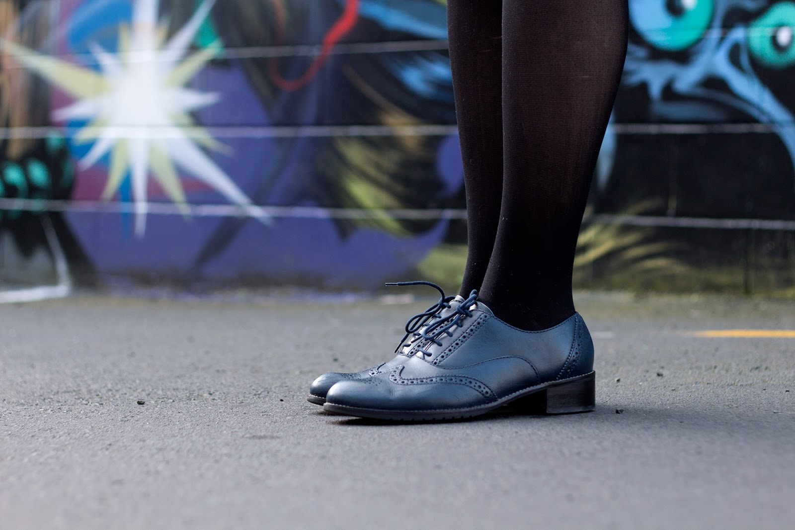 Navy lace dress work shoes