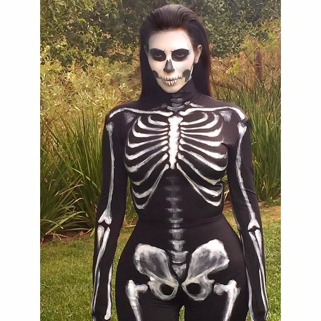El esqueleto de Kim Kardashian