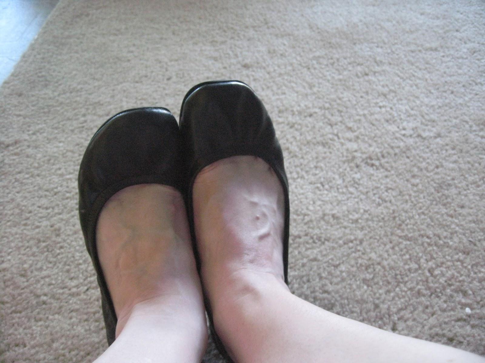 Trashed Harrison Idaho T Bar Shoes With Blue Socks