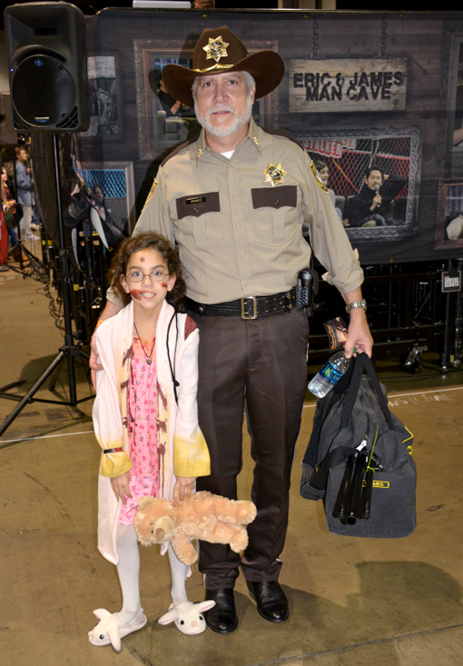 Rick and Young Zombie Girl | Walker Stalker Con 2015
