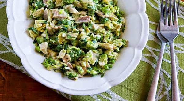 Chicken and Avocado Salad Recipe with Lime and Cilantro (Low-Carb ...