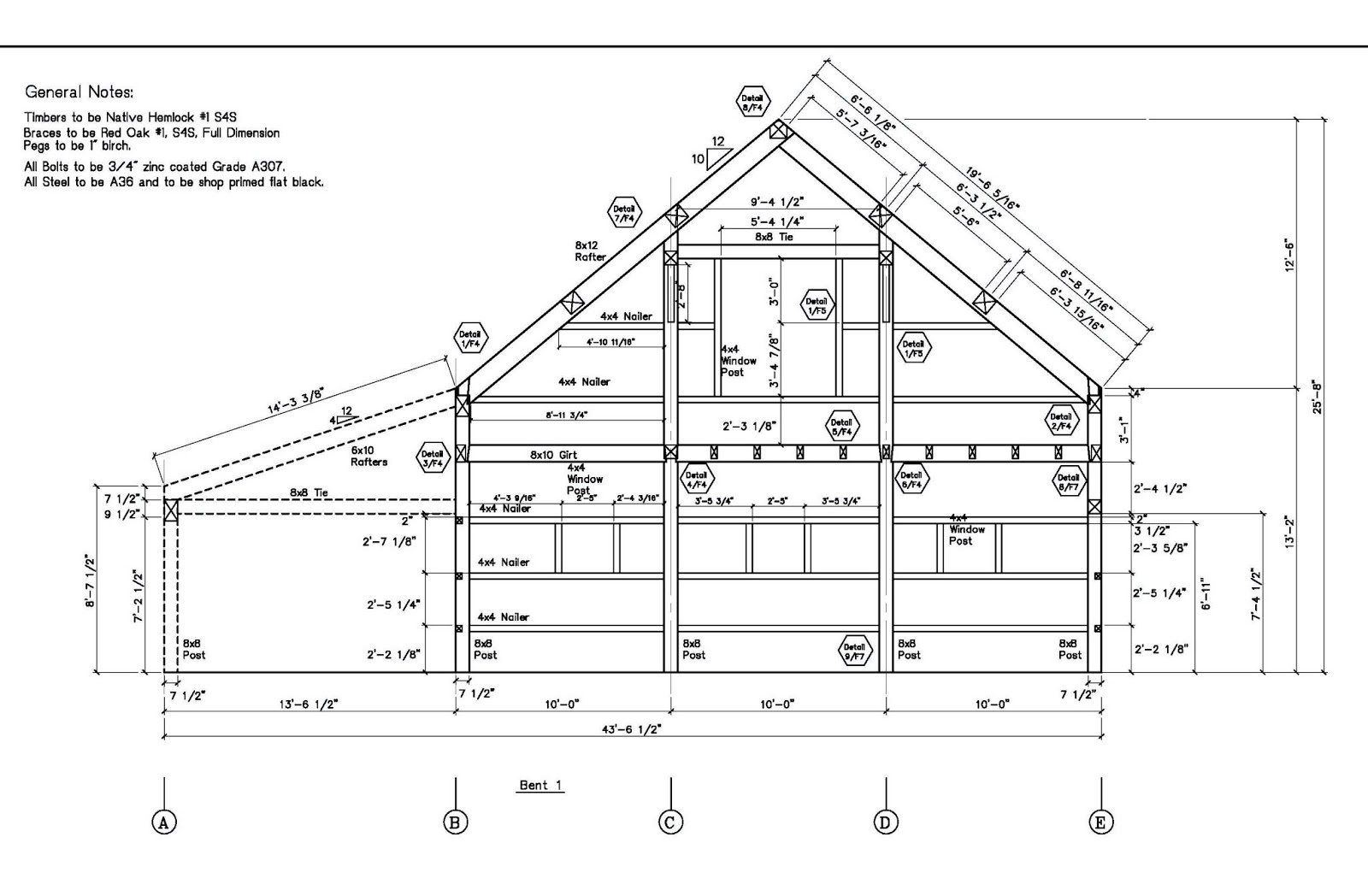 Post and beam sales spring construction of timber frame for Post frame building plans