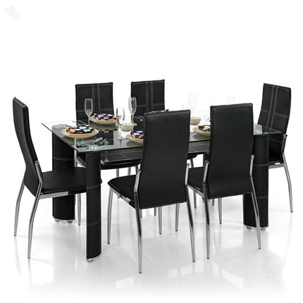 Glass dining table price in nigeria 6 chairs set in for Dining table set for 6