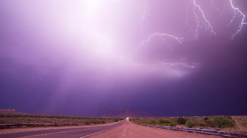 Chuvas de monção no Arizona