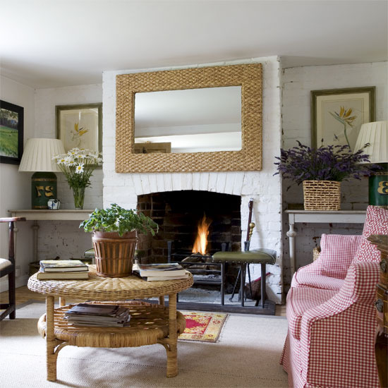 White Brick Walls Lend A Cosy And Relaxed Feel To This Living Room