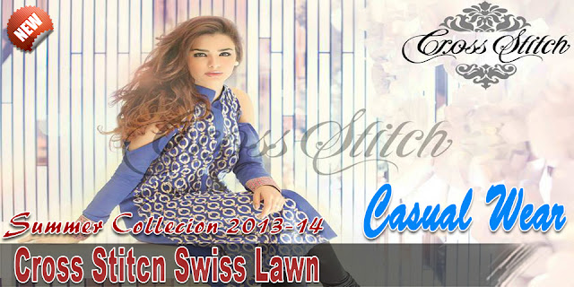 Cross Stitch Swiss Lawn Summer Collection 2013-14