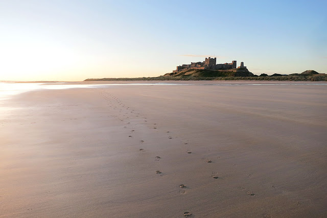 beach bamburgh castle