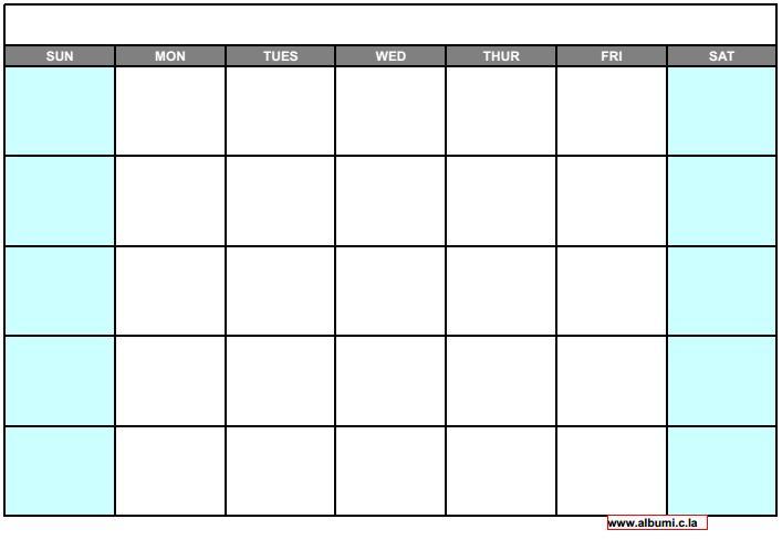 Blank Calendar Grid Printable : All calendar for print calendars kalendar