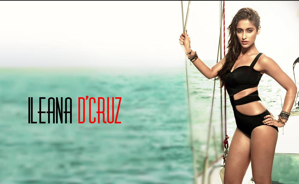 Ileana D'Cruz Black Swimsuit Wallpaper