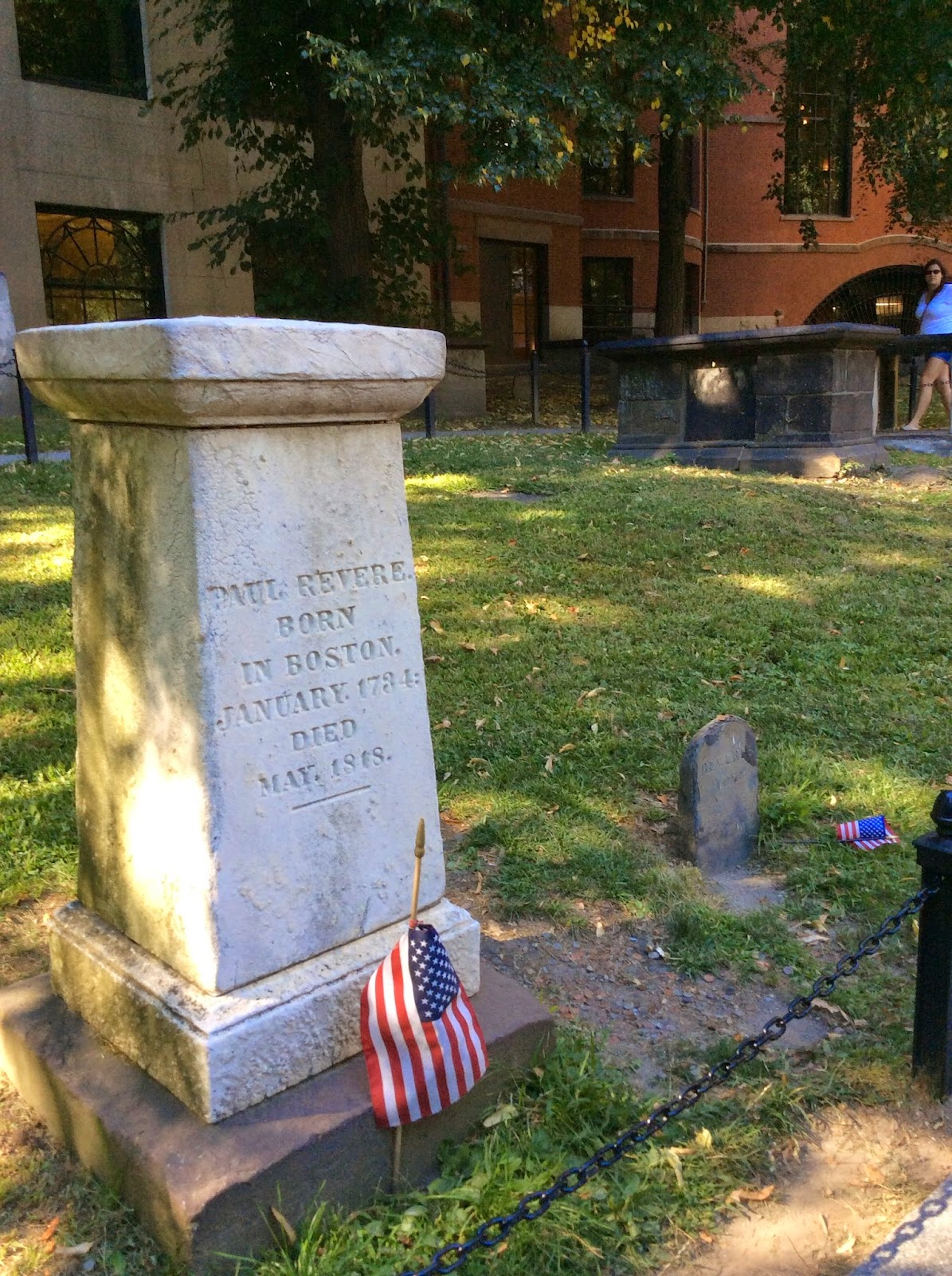Another Person Buried There Is Paul Revere Guess Which Grave His