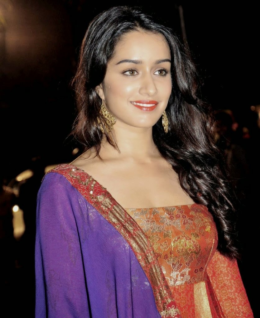 Shraddha Kapoor Latest Hot Bollywood Actress Photo in Orange Dress