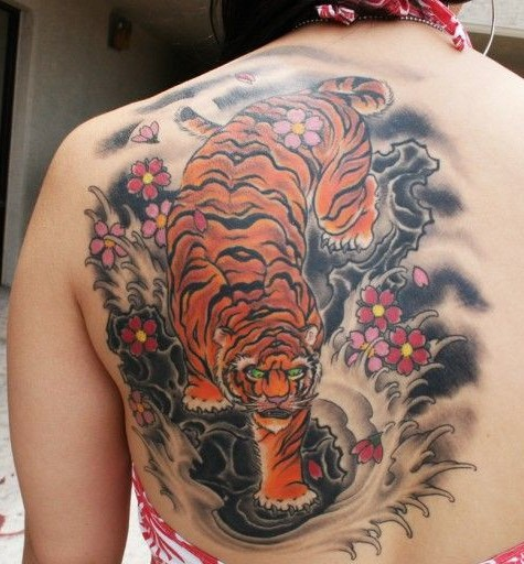Tattoo pictures image gallery popular tiger tattoos for Tiger tattoos for females