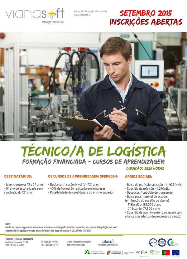 Curso de aprendizagem de Técnico de Logística (com apoios sociais) – Viana do Castelo