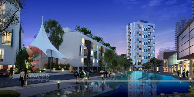 3d architecture design,3d Township Design