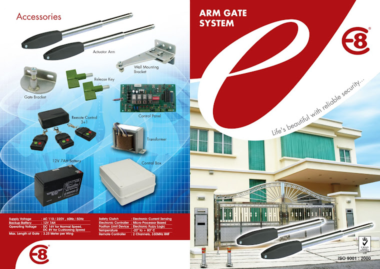 E8 DC Swing Gate System - Arm Type