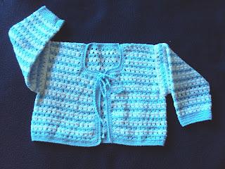 Chaqueta de bebé perlé