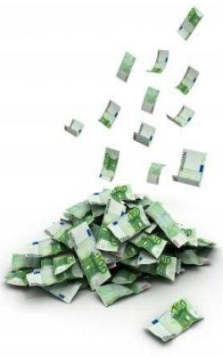 monte de dinheiro