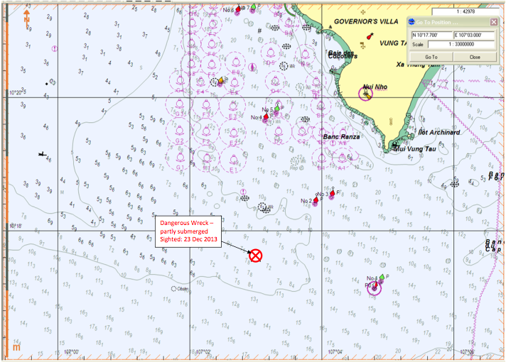 Watch Out for the Unmarked Ship Wreck off Vung Tau Vietnam  The
