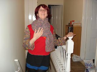 Rullsenberg's hand knitted scarf