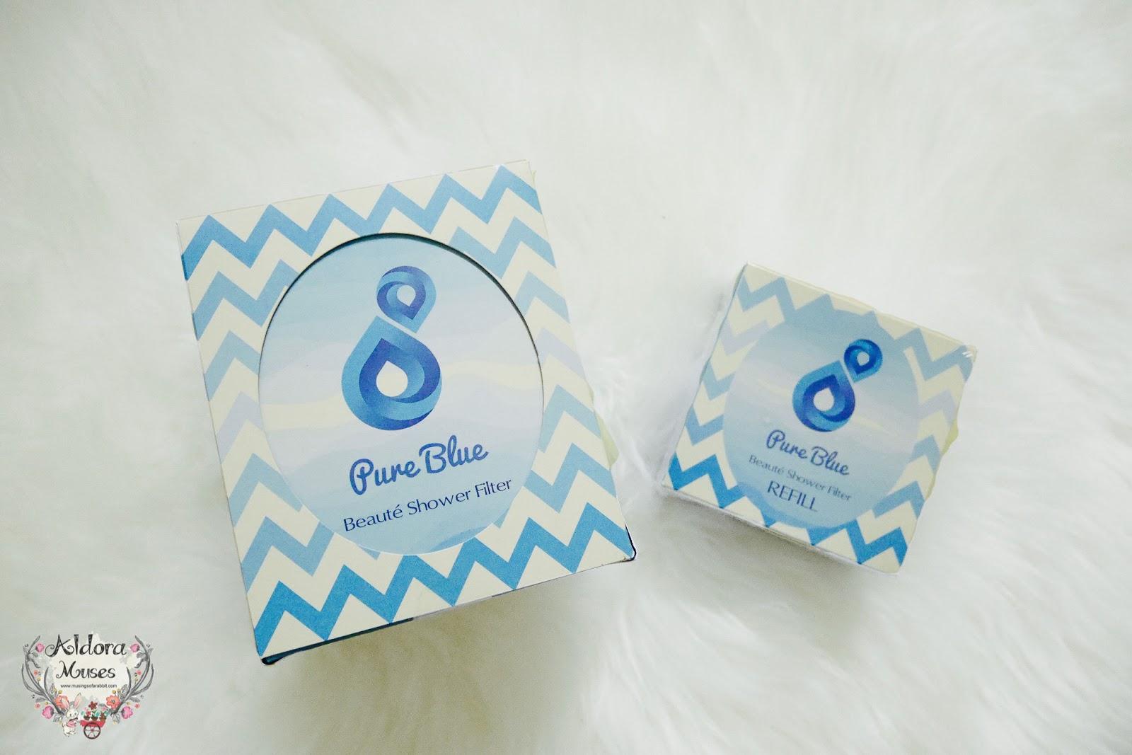 pure blue beaut shower filter review aldora muses. Black Bedroom Furniture Sets. Home Design Ideas