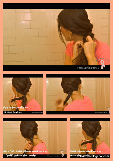 How to low side rope braid/twist braid bun hairstyle on medium long hair tutorial