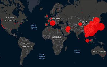 Ο κορονοϊός σε real time και όλες οι εξελίξεις λεπτό προς λεπτό σε έναν χάρτη..