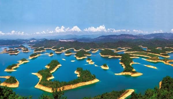 FOTO: Indahnya 'Danau Seribu Pulau' di China