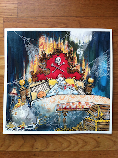 pirates of the caribbean captains quarters watercolor painting art jennifer ewing j shari ewing