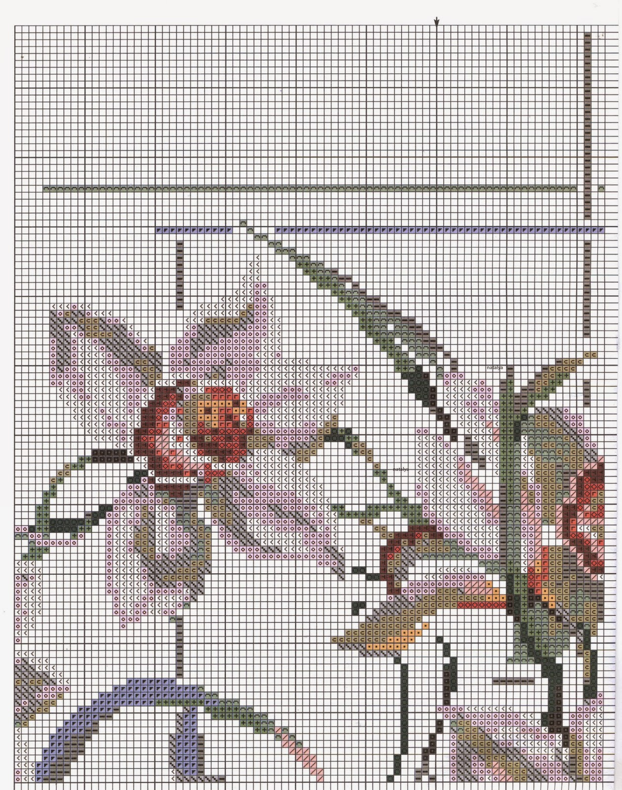 орхиде вышивка крестом схема