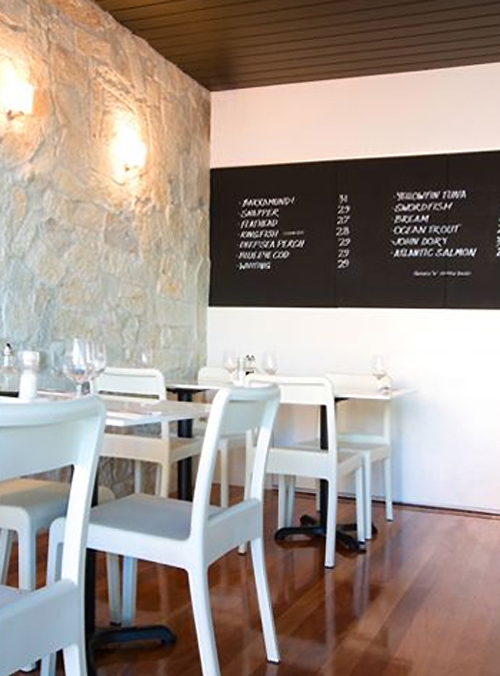 Elegant White Interior Cafe Design