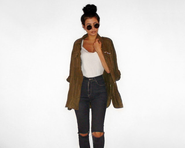 khaki outfit ideas pinterest