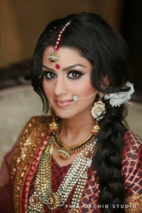 Stupendous Indian Brides Hairstyles 2014 2015 Chal Abay Hairstyle Inspiration Daily Dogsangcom