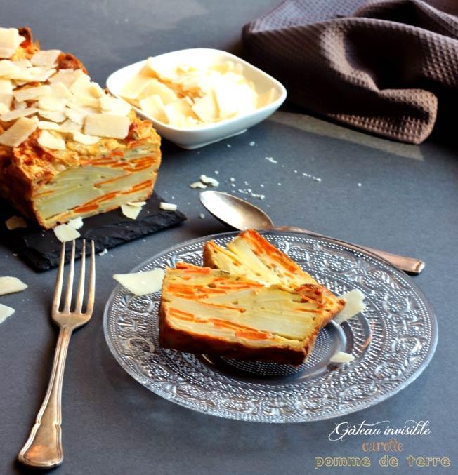 gateau invisible carotte pomme de terre