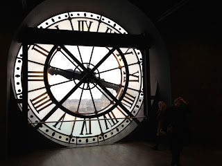 Clock at Musee d'Orsay Paris