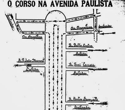 Propaganda com as regras do carnaval de São Paulo em 1923