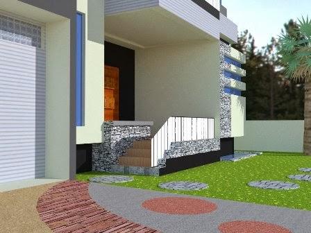 gambar teras rumah minimalis pakai beton cor