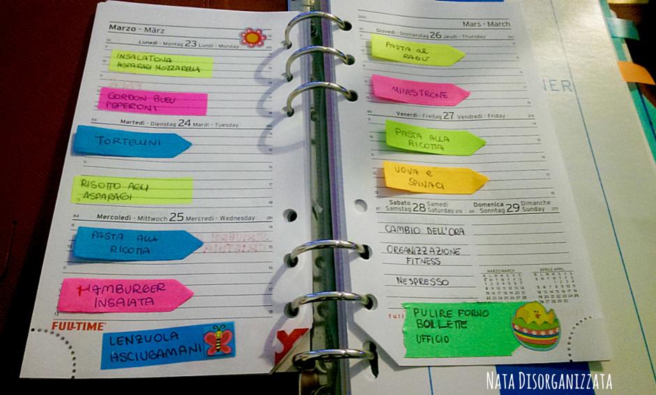 menu' settimanale