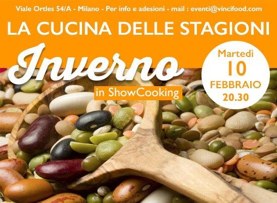 Martedì 10 febbraio: nel loft Lorenzo Vinci a Milano showcooking e cena conviviale dedicata ai prodotti tipici dell'Inverno