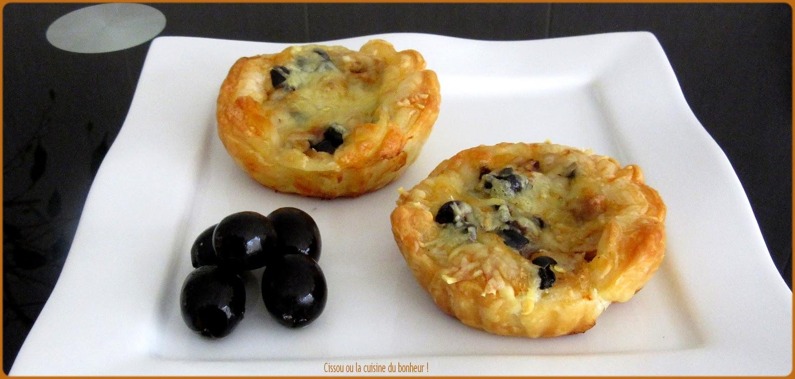 Cissou ou la cuisine du bonheur tartelettes thon olives for Du bonheur dans la cuisine